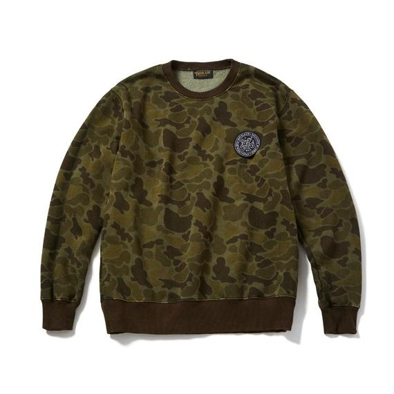 Camo crew neck sweat