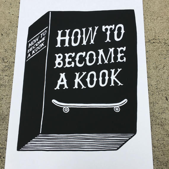 """HOW TO BECOME A KOOK'' A3 POSTER (STOMACHACHE)"