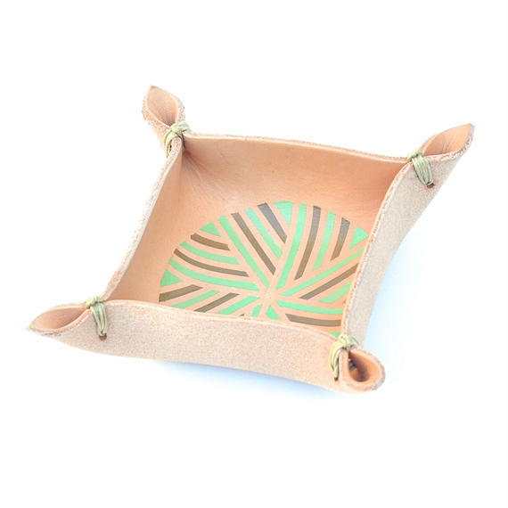 hi-dutch Original paint on Leather Laced Tray