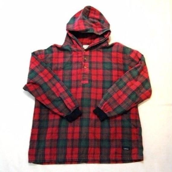 【L.L. Bean】hooded flannel shirts