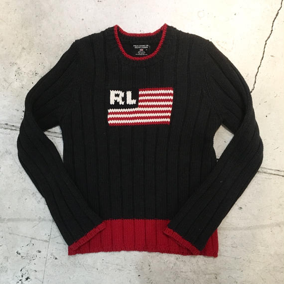 【POOO JEANS CO. RALPH LAUREN】コットンニット セーター