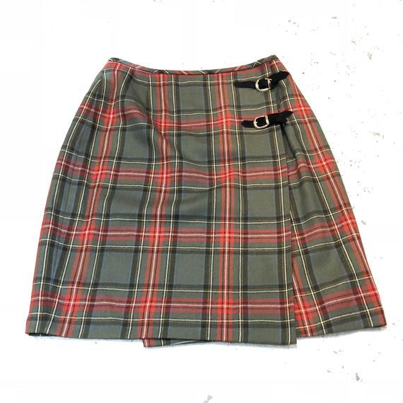 ウール 巻きスカート