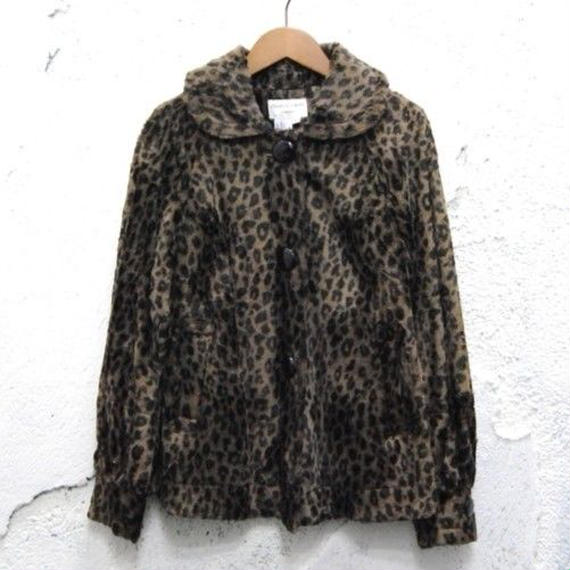 Leopard pattern jacket made in England