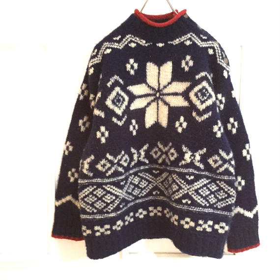 【ralphlauren】nordic柄  sweater