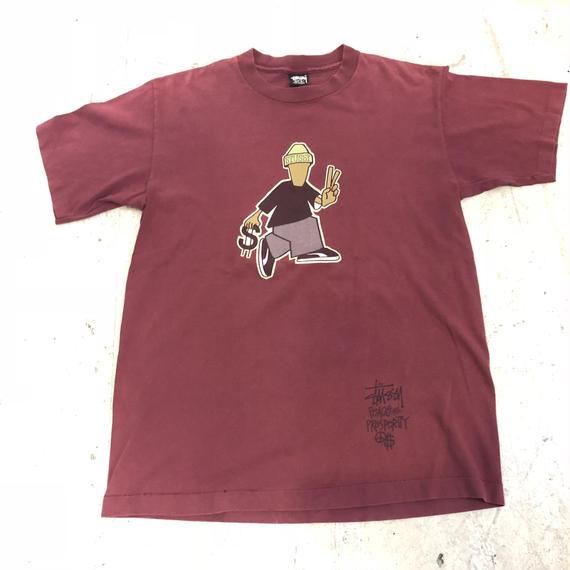 【OLD STUSSY】黒タグ80s USA性 Tシャツ
