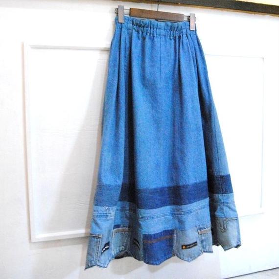 remake denim skirt