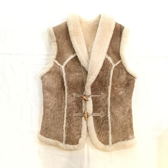 【H Bar C】70s  Sheep-skin Mouton Vest