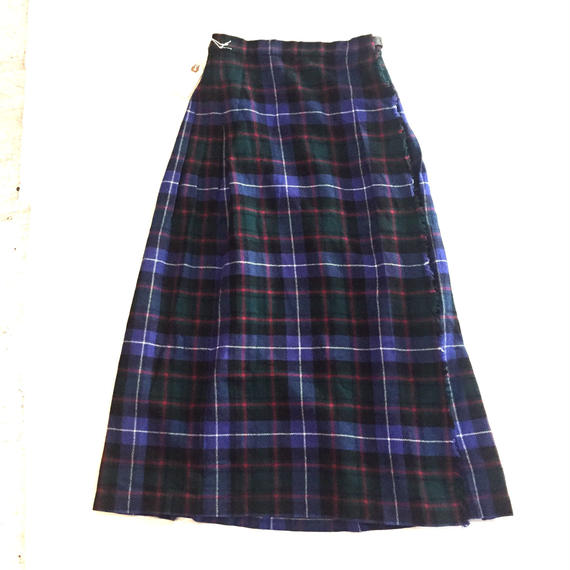 SCOTTLAND製 WOOL WRAP SKIRT