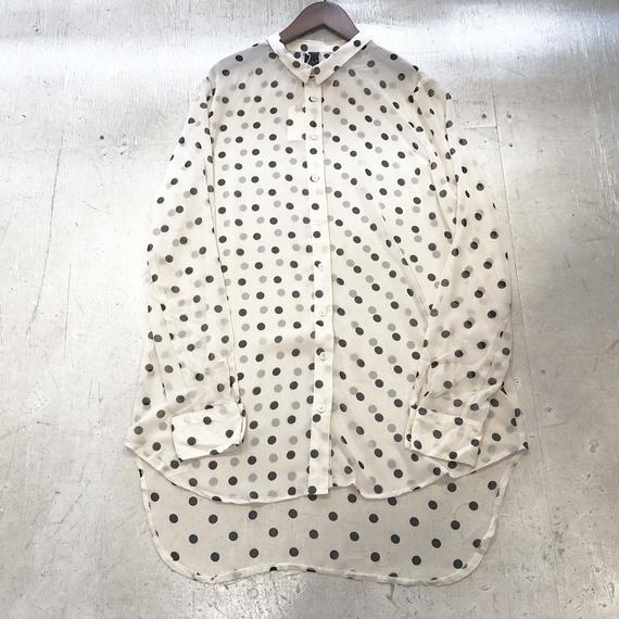 シースルードットロングシャツ