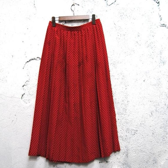 Dot Pleats Skirt