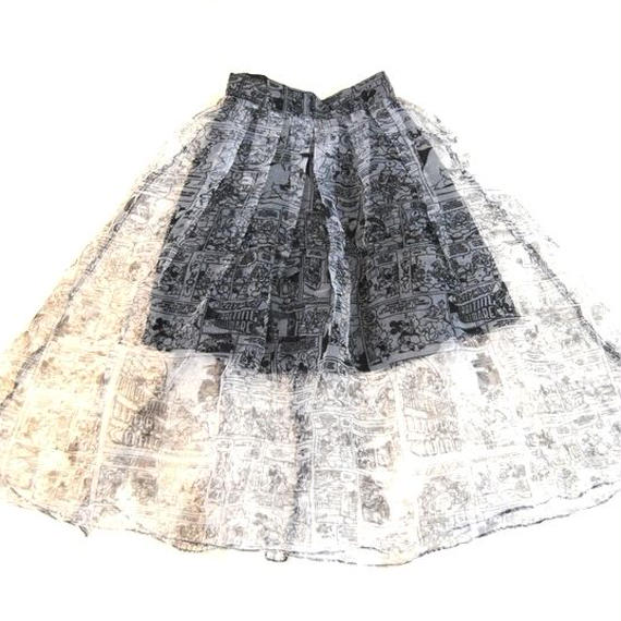 ''MICKEY'' See-Through Skirt