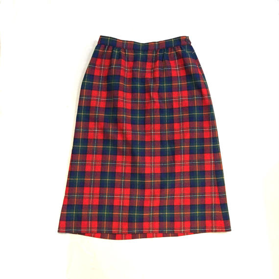 70's 【PENDLETON】Wool Check Skirt