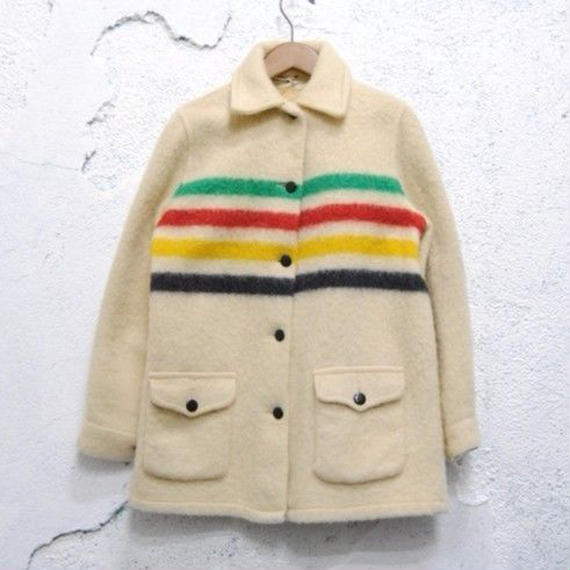【HUDSON'S BAY】Wool Blanket Jacket