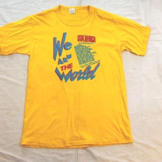 """80's We ARE THE World""T-shirts"