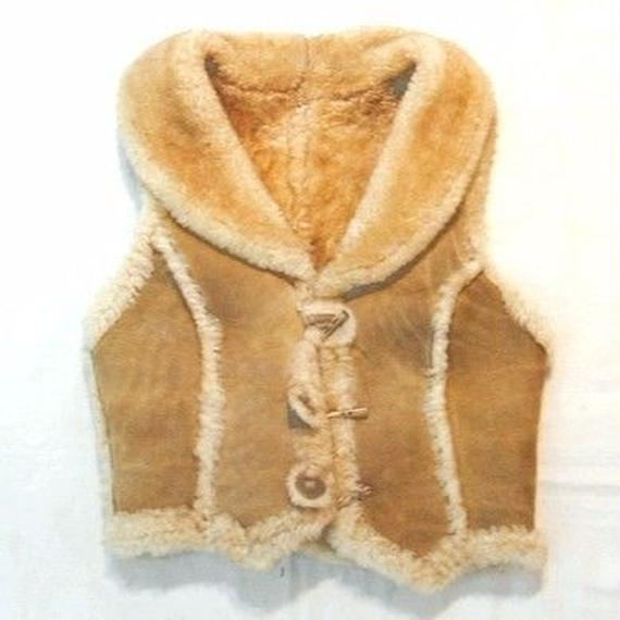 70s  Sheep-skin Mouton Vest