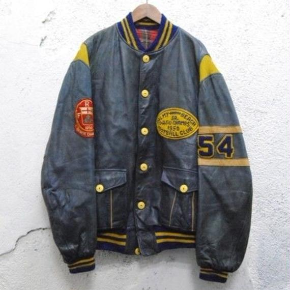 50s button award jacket