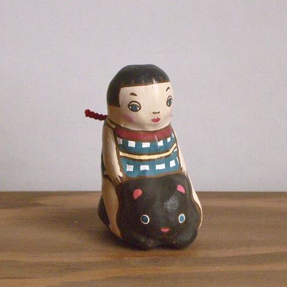 金太郎とくま土鈴 Claybell of KinTaro and Bear