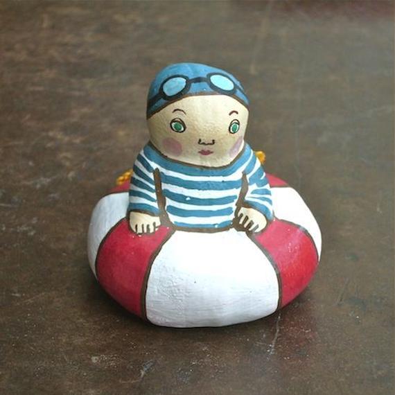 水泳少年土鈴 Claybell of Swimming boy