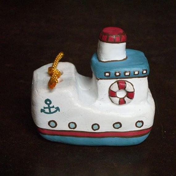 ブリキの船土鈴 Claybell of Tin ship