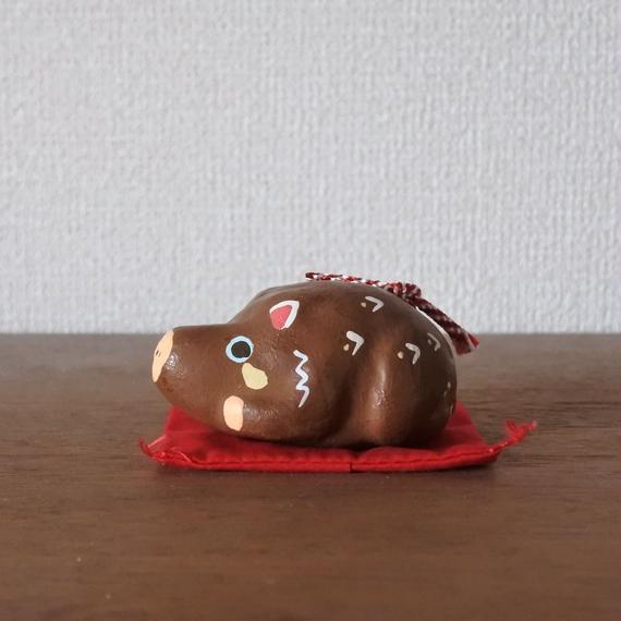 干支 亥土鈴 Claybell of Boar
