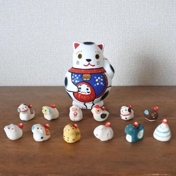 招福猫 十二支縁起  Lucky cat & Twelve zodiac signs