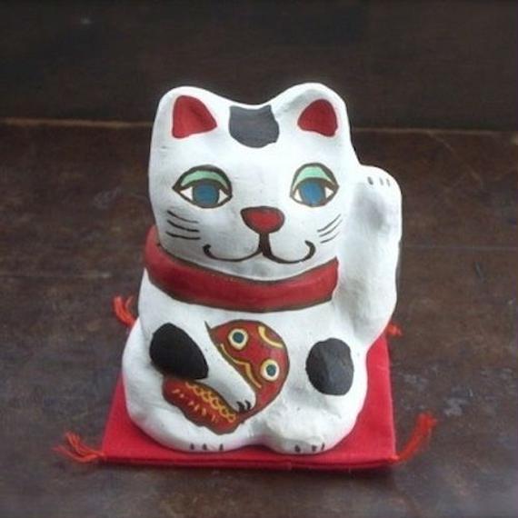 招き猫土鈴 Claybeii of Beckoning cat