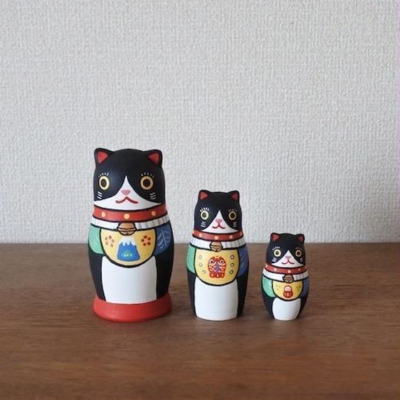 MATRYOSHKA 3sets 福猫 Lucky Cat