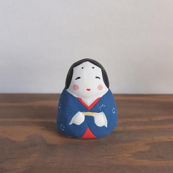お多福 青 Otafuku blue