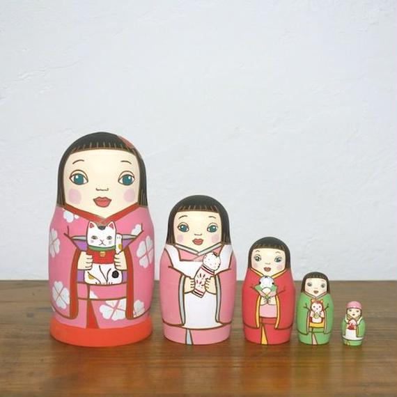 MATRYOSHKA 5sets 人形遊び Doll play