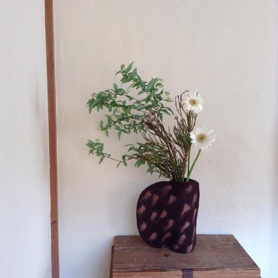 花瓶カバー「半月 ドット」