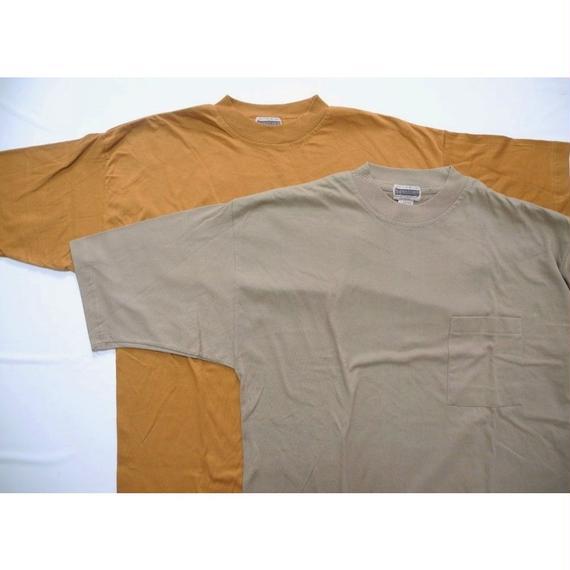 NEW TRAILS pocket T-shirt  Brown-M   Beige-L