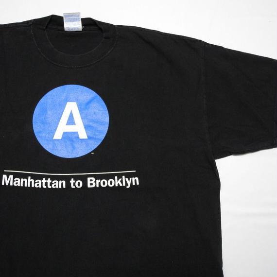 NEW YORK SUBWAY ROUTE T-shirt XXL