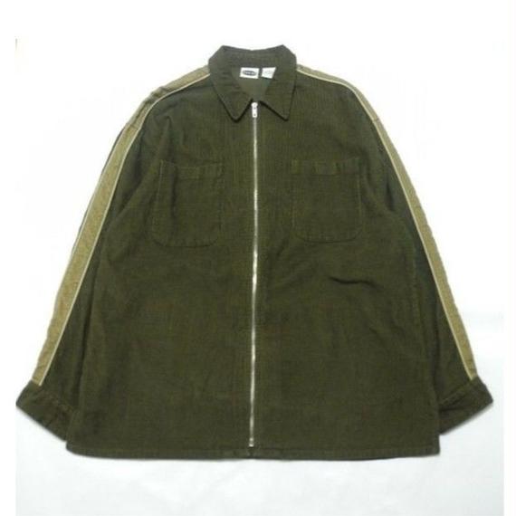 Corduroy Zip Shirt  L