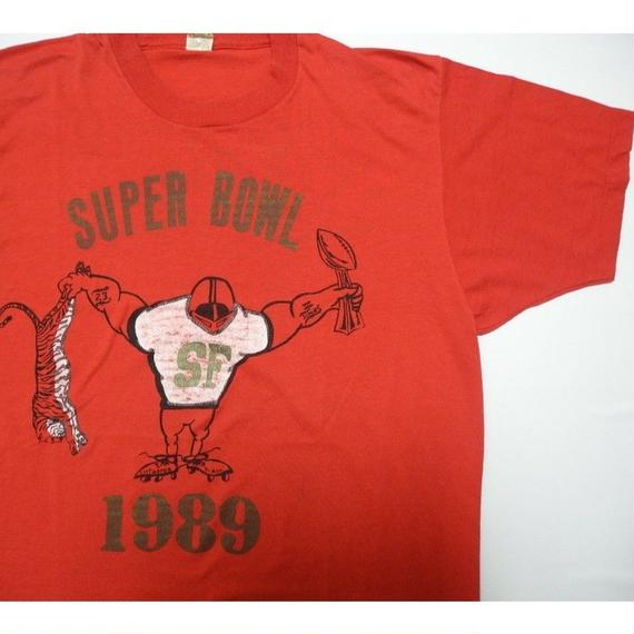 SUPER BOWL 1989 T-shirt MADE IN USA L