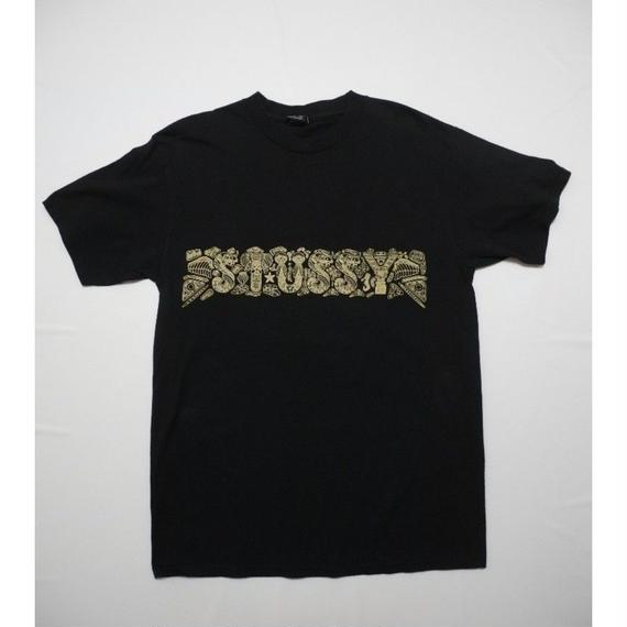 STUSSY T-shirt  M  Front Back Print