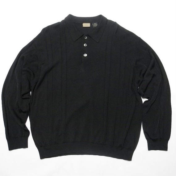 A[X]IST  RAYON×COTTON L/s POLO shirt XL