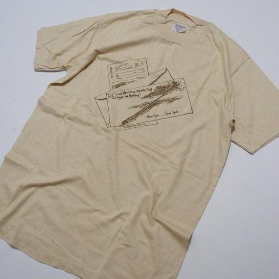 80s HANES Hermosa Beach Parking T-shirt L