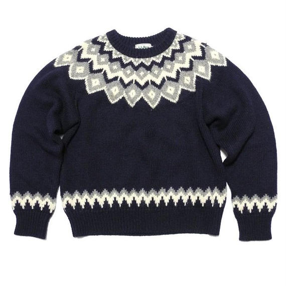 L.L.Bean Nordic pattern Wool Kint Medium
