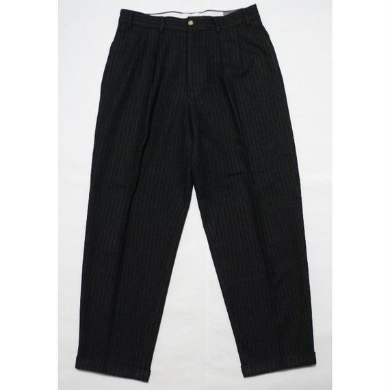 STRIPE WOOL SLACKS 33inch