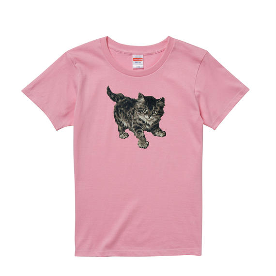 【Minnie cat/ミニーキャット】5.6オンス Tシャツ/PK/LT-012