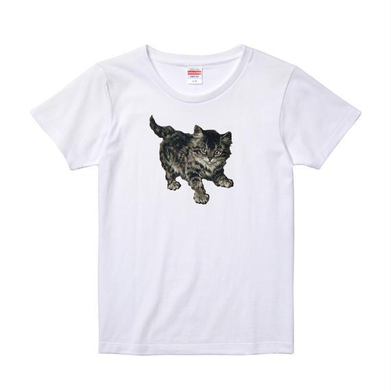 【Minnie cat/ミニーキャット】5.6オンス Tシャツ/WH/LT-012