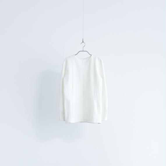Women's Work Sweater  ラウンドネック[ホワイト]