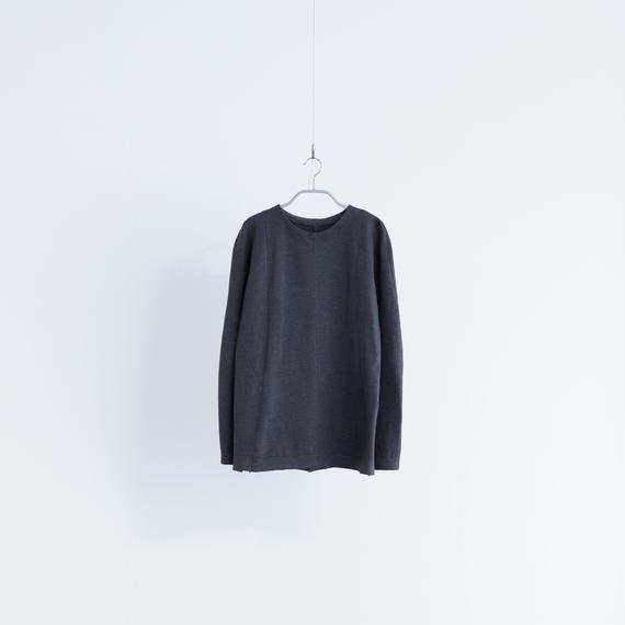 Women's Work Sweater ラウンドネック [ダークグレー]