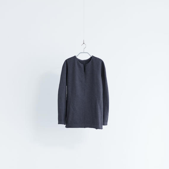 Women's Work Sweater Vネック [ダークグレー]