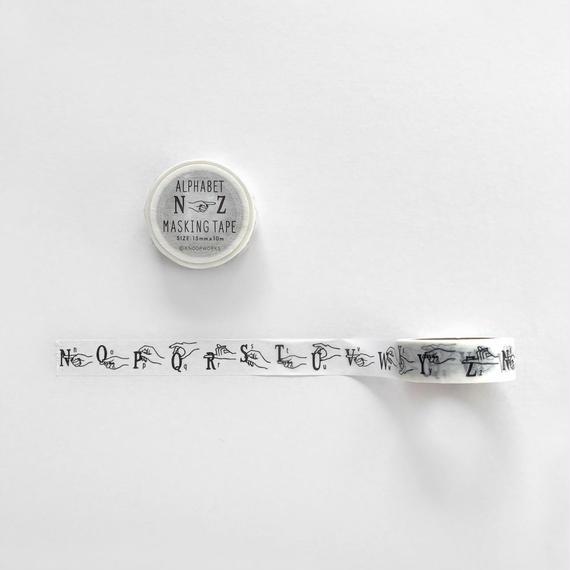 ALPHABET (N-Z) マスキングテープ