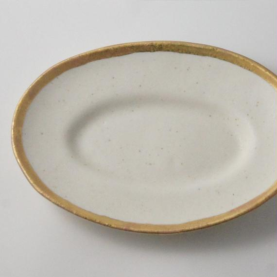 MY DISH Oval Plate Gold 23cm