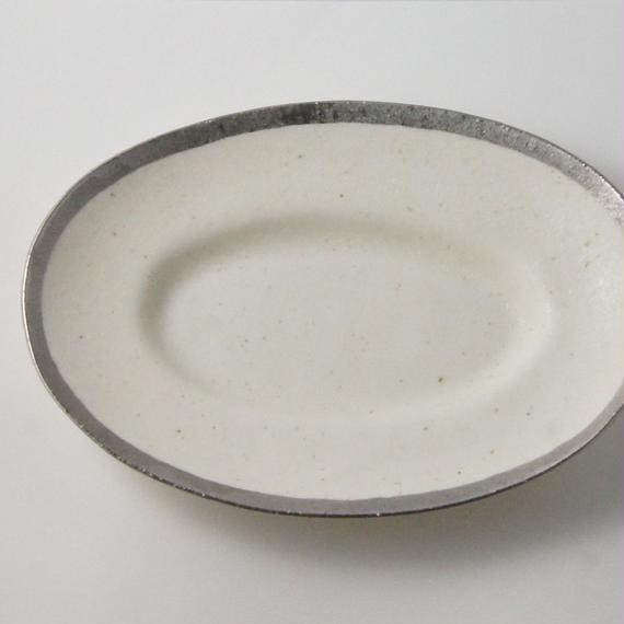 MY DISH Oval Plate Platinum 28cm