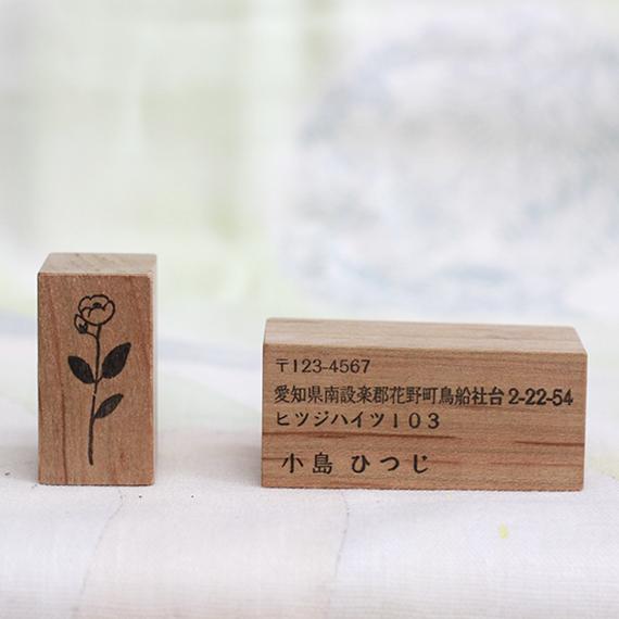 植物採集の住所スタンプ:8『梅花空木(バイカウツギ)』