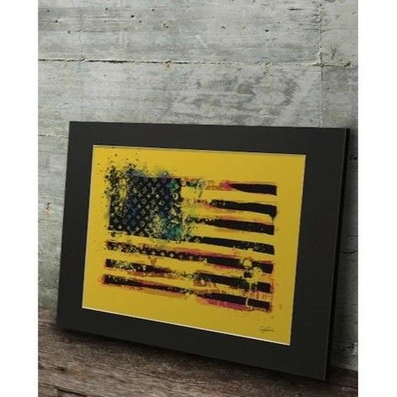 A2 高級マットパネル【USA Flag】