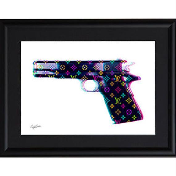 A4 ポスターフレームセット 【 LV HAND GUN 】
